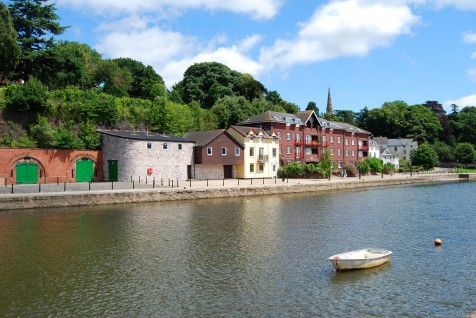 The Historic Quayside at Exeter in Devon, England